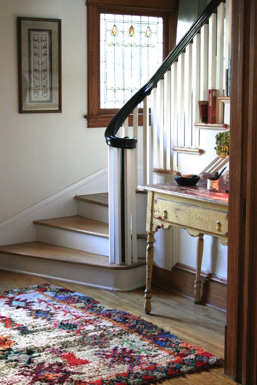 Curving Banister on Historic Staircase