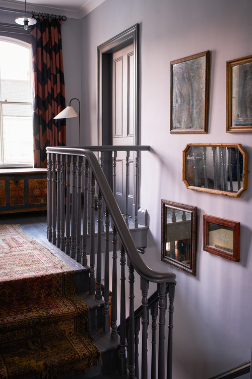 Curving Banister Staircase in an Historic Home