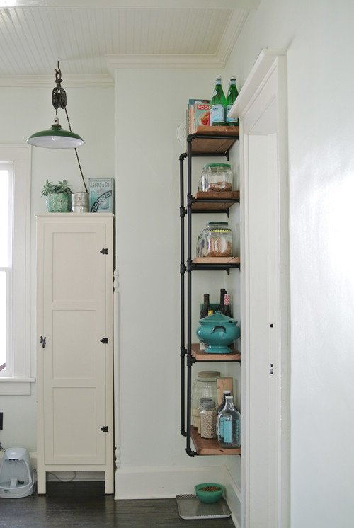 Vintage Kitchen with Open Shelving