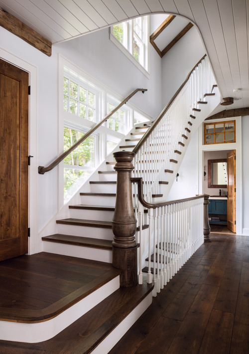 Wood and White Stairway
