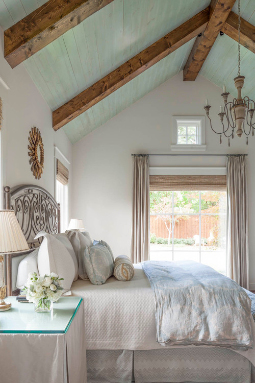 Romantic Bedroom with Vaulted Ceiling