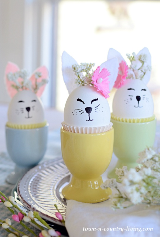 DIY Bunny Eggs for Spring and Easter Decorating