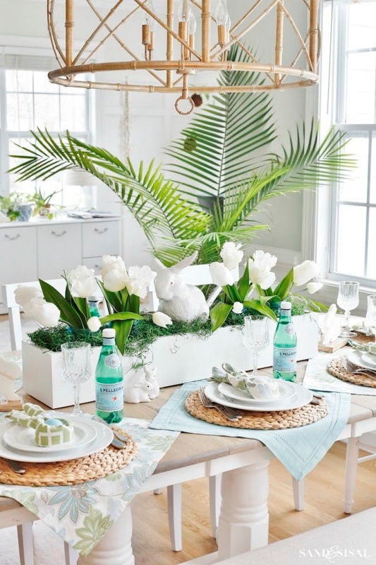 Table Setting by Sand and Sisal