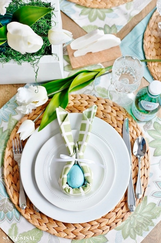 Easter Table Setting by Sand and Sisal