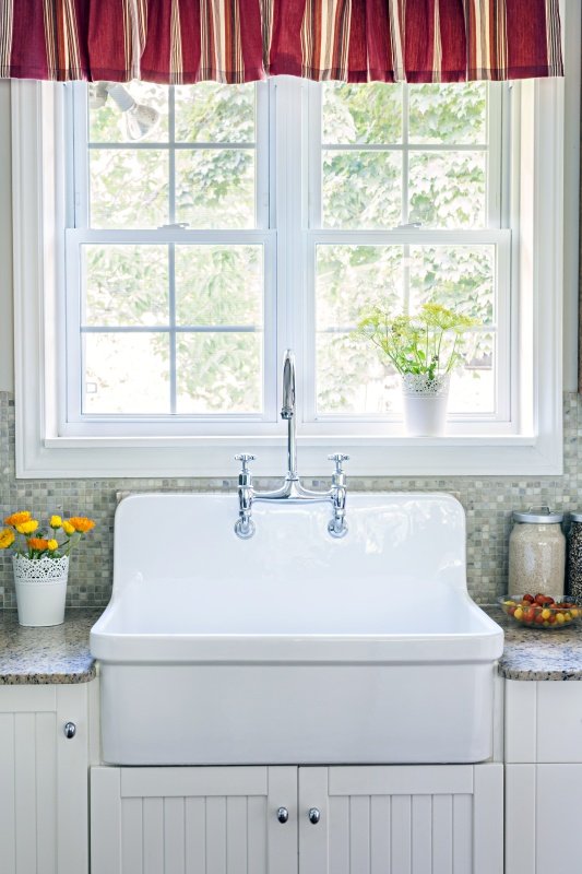 Farmhouse Sink in a Country Style Kitchen