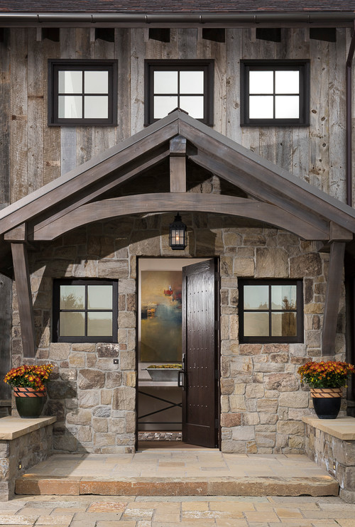 Front Entry of Idaho Mountain Home