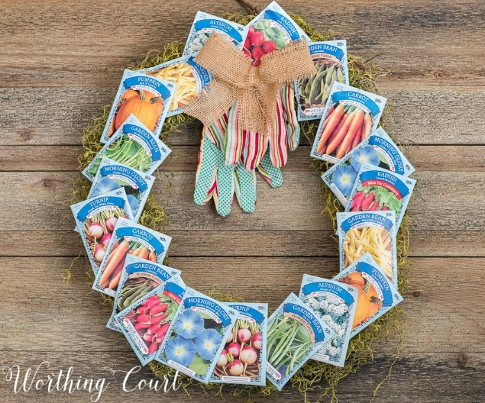 DIY Seed Packet Wreath by Worthing Court