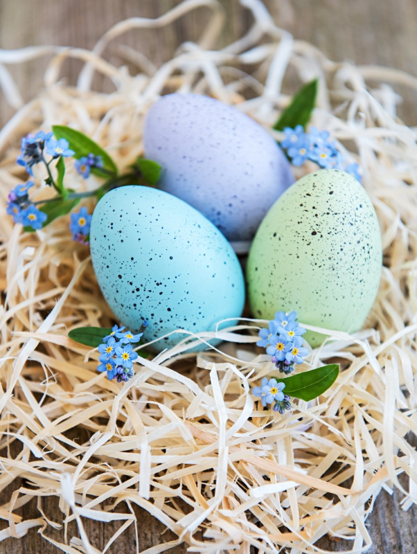 DIY Colored Speckled Eggs