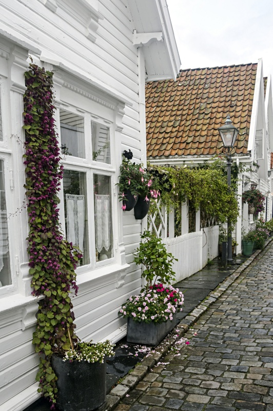 White Scandinavian House on Brick Street