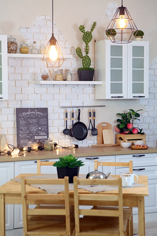 Provence style kitchen interior