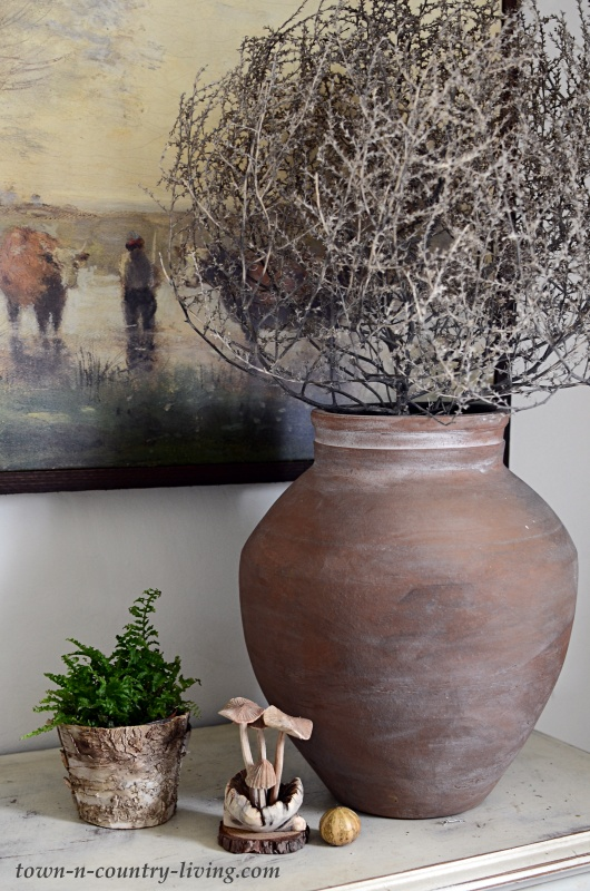 Ceramic Pot with Tumbleweed