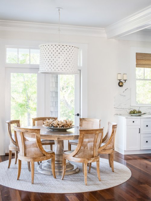 Eat-In Kitchen with Round Wood Table for Six