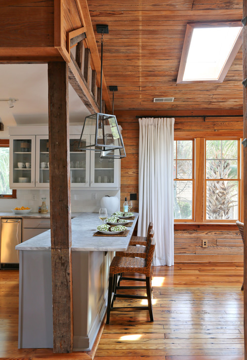 Kitchen in a Rustic Beach House