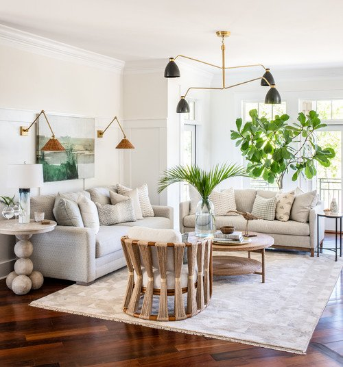 Beach Style Living Room in Neutral Tones