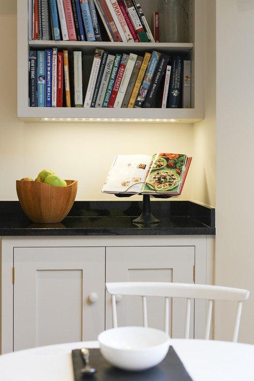 Cookbook Shelf in Kitchen Corner