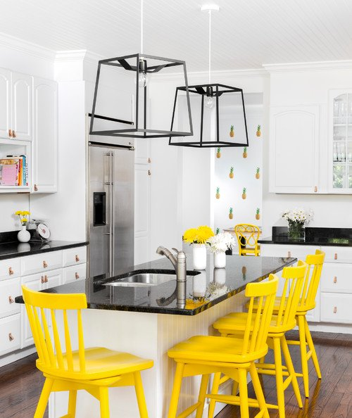 Bold Yellow Kitchen Chairs