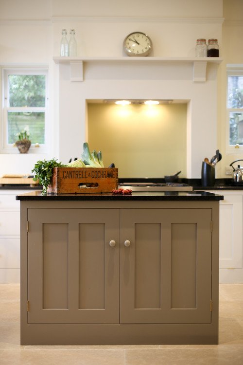 English Cottage Kitchen with Center Island