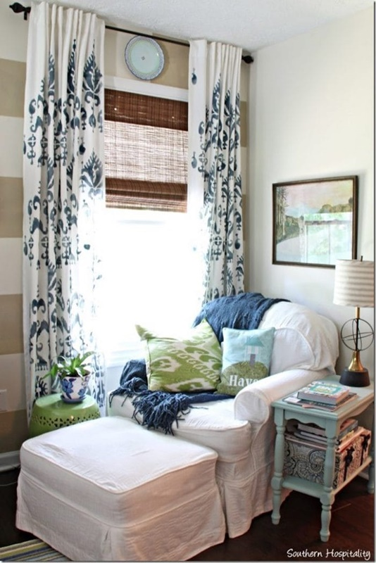 How to Stencil Drapes at Southern Hospitality