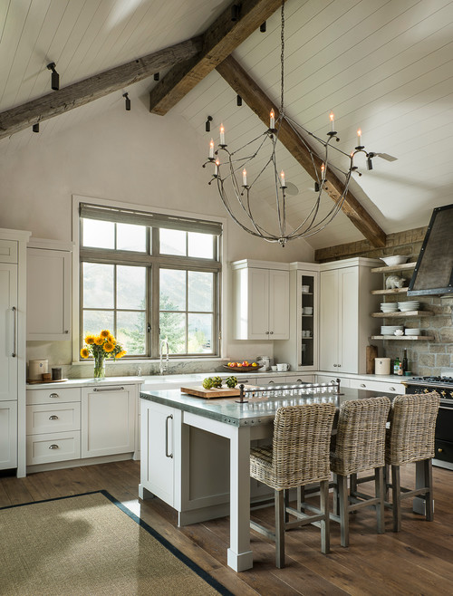 Rustic Kitchen in Idaho Mountain Home