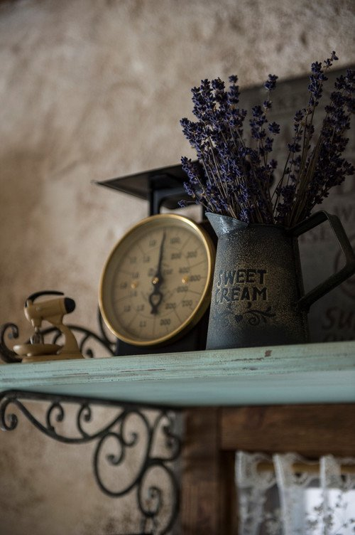 Lavender in a Vintage Tin Pitcher
