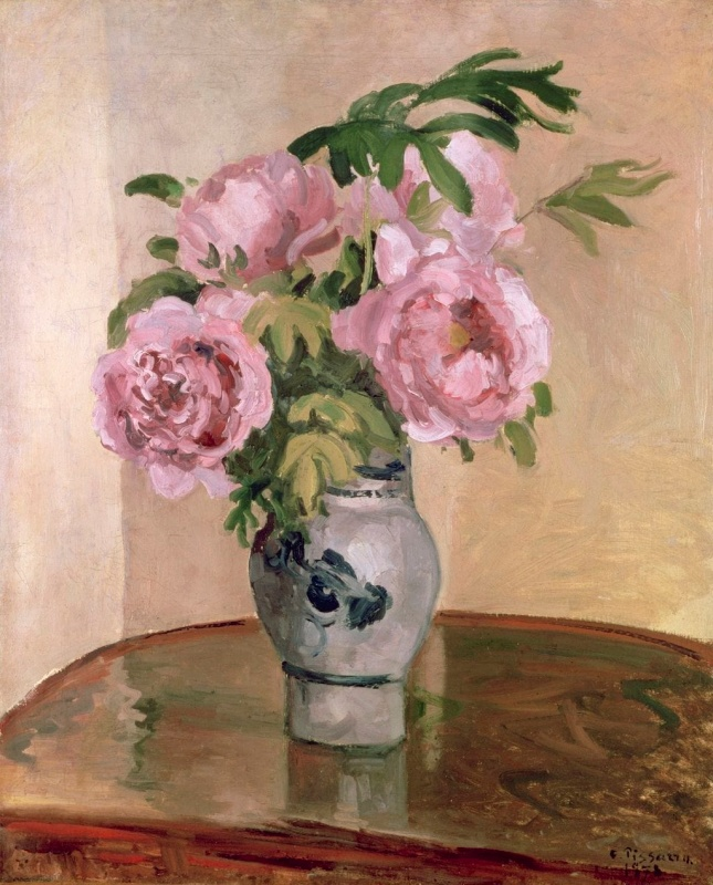 Peonies Oil Painting from Shabbyfufu
