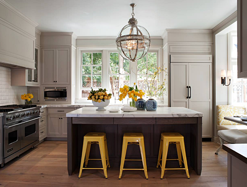 Classic Cottage Kitchen with Yellow Accents