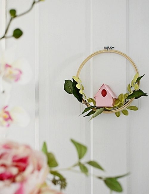 Easy to Make DIY Birdhouse Wreath