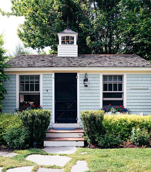 Blue Shingle Tiny House