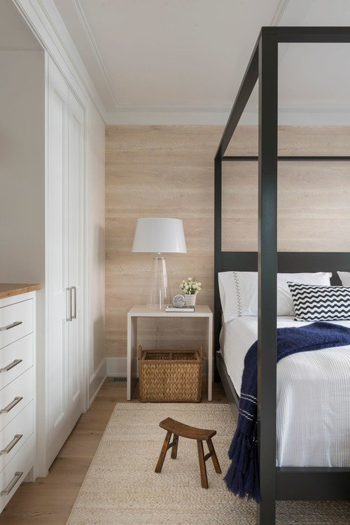 Four Poster Bed in Beach Style Bedroom