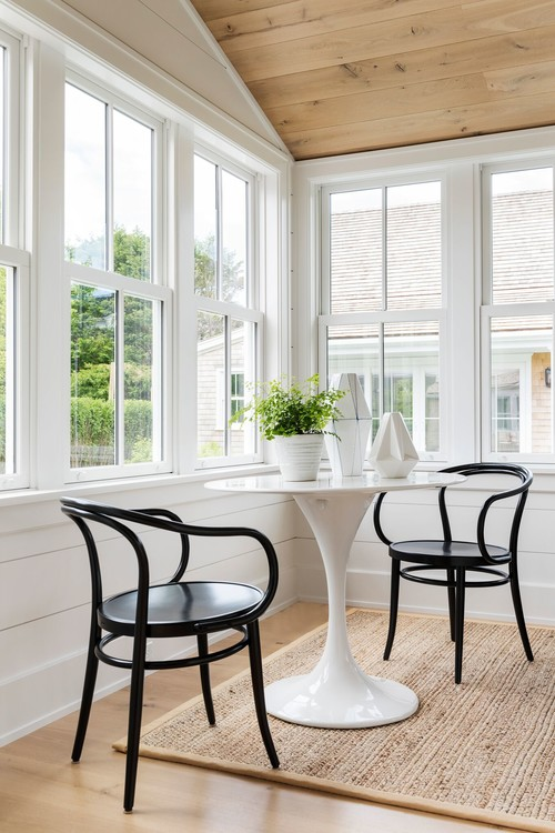 Breakfast Nook in Four-Season Porch