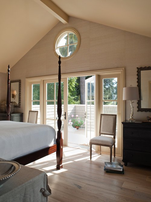 Master Bedroom with Four Poster Bed and Neutral Color Scheme