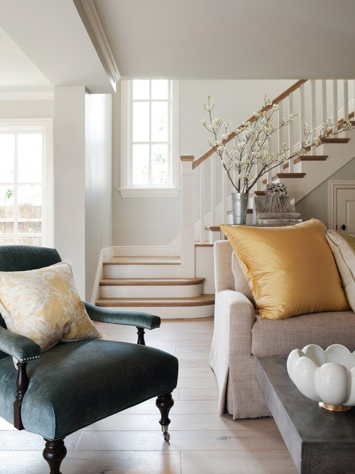 Wood and White Traditional Staircase