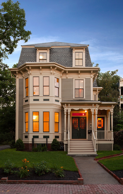 Elegant Victorian home in neutral colors