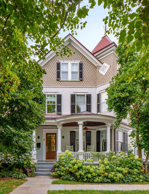 Victorian Style House Exterior with Large Porch