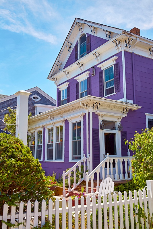 Purple Victorian Cottage in Provincetown, Massachusetts