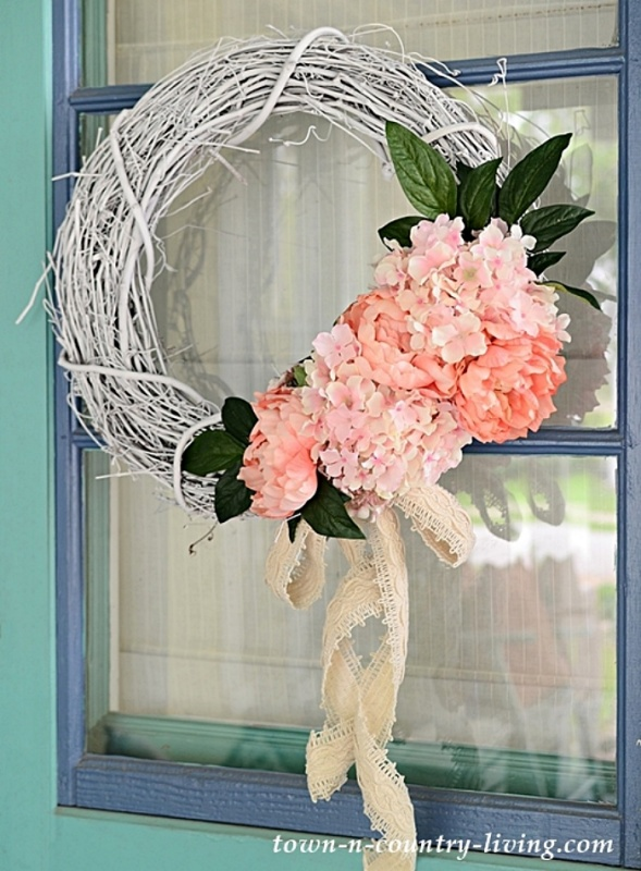 DIY Summer Floral Wreath