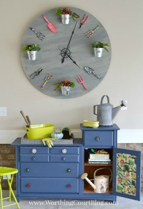 Faux Garden Clock by Worthing Court