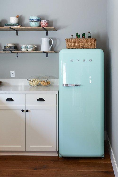 Pastel Blue SMEG Refrigerator