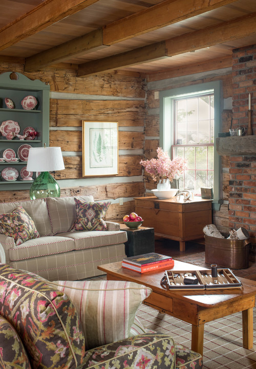 Cabin Style English Living Room
