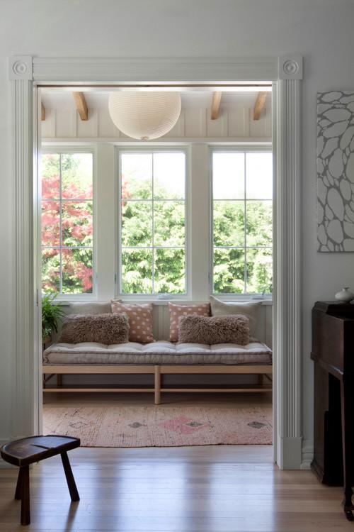 Scandinavian Style Sun Room in Modern Farmhouse