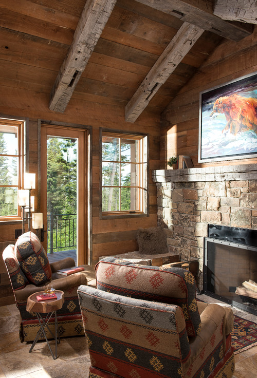 Rustic Cabin Style Living Room