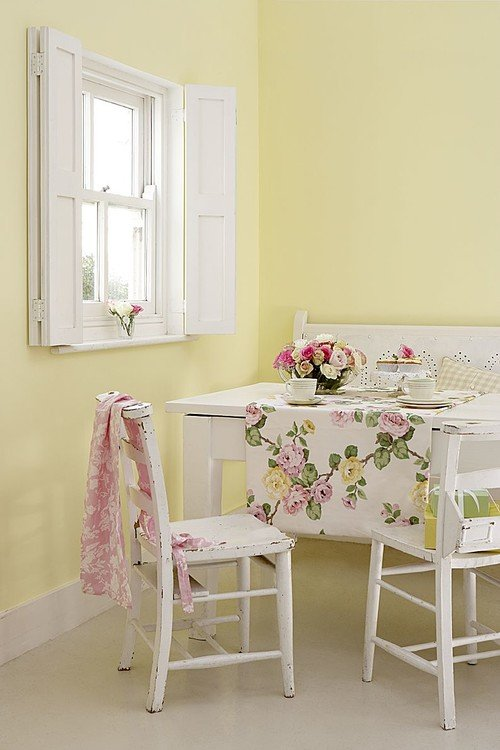 Pale Yellow Breakfast Room
