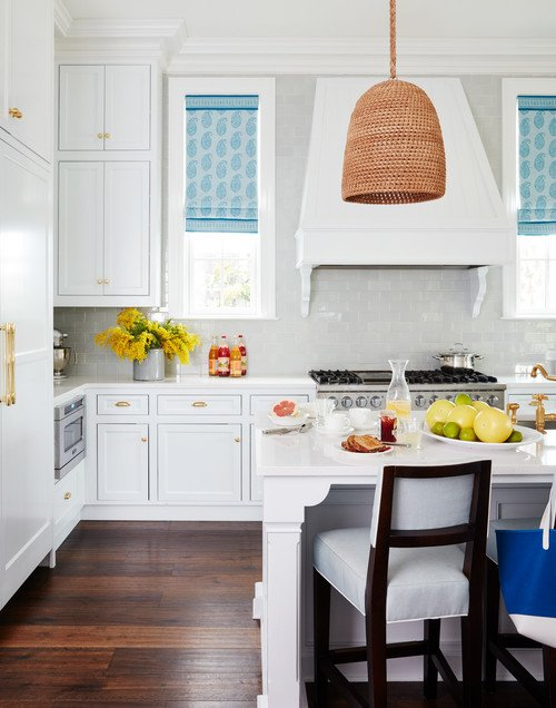 Beach Style Kitchen in Traditional Home in Florida