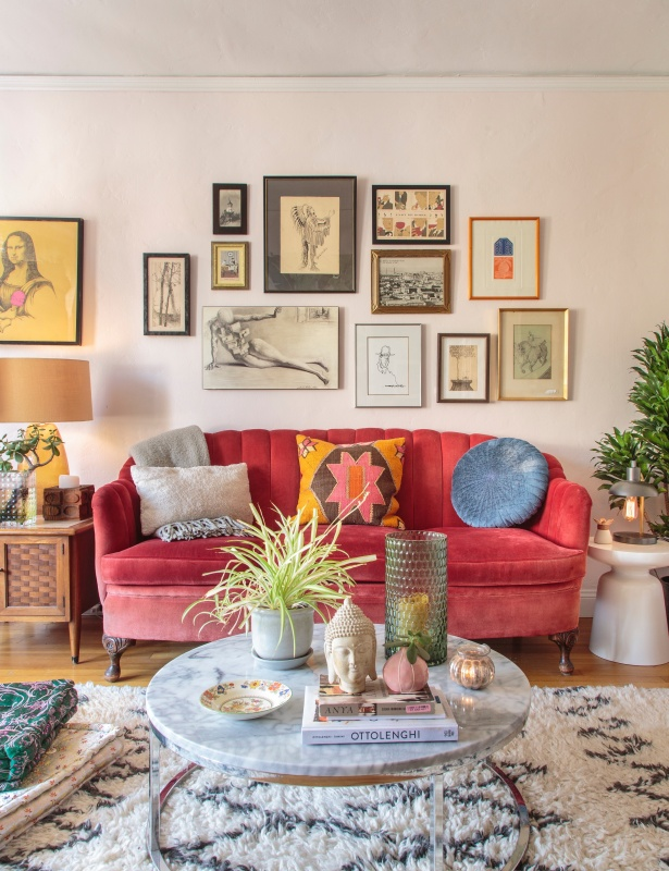 Colorful and Eclectic Living Room
