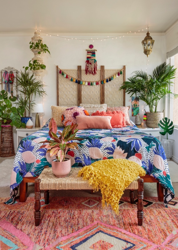 Eclectic and Colorful Bohemian Style Bedroom