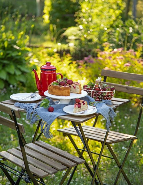 Bistro Table for Summer Dining Outdoors