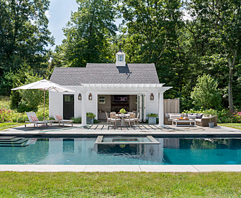 Swimming Pool with Stand Alone Pool House