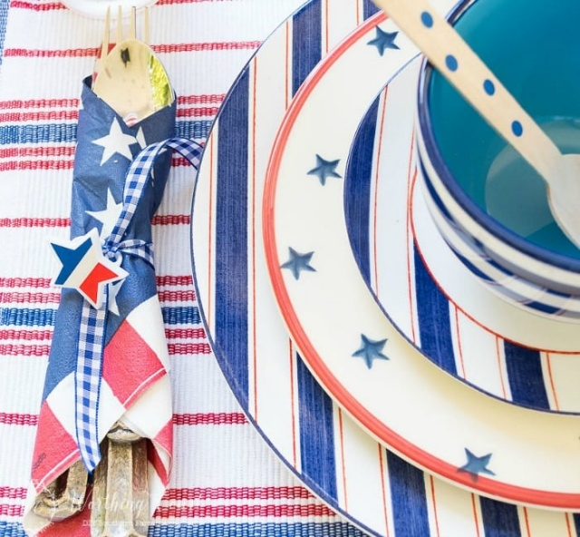 Patriotic Table Setting by Worthing Court