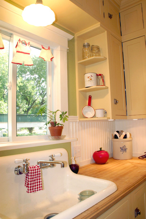 Country Kitchen in Yellow and Red