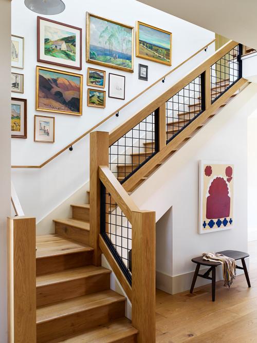 Contemporary Staircase in a Modern Farmhouse